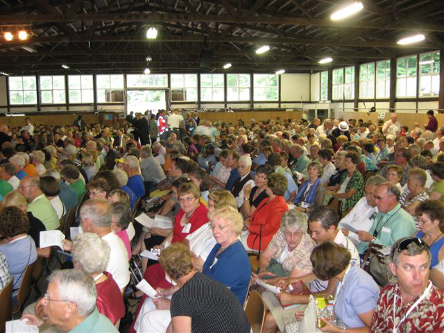 More than 1,000 guests gathered in Schwarzenau's riding arena for services Saturday and Sunday, August 2 and 3, 2008